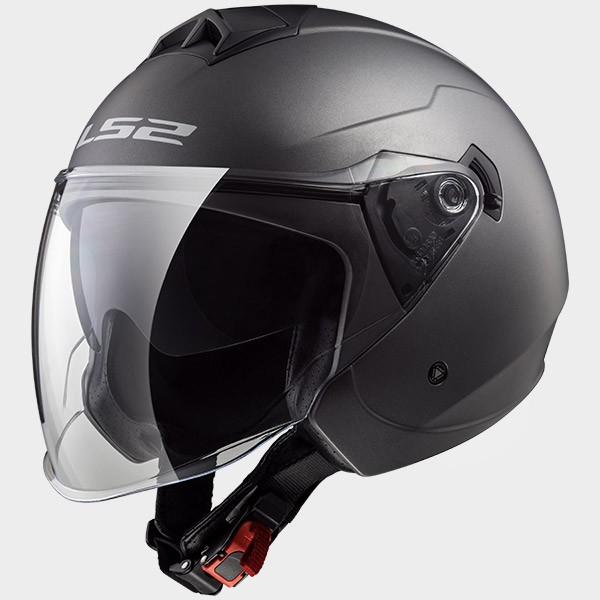 CASCO JET EN THERMOPLASTICO - LS2 - OF573 TWISTER MATT TITANIUM