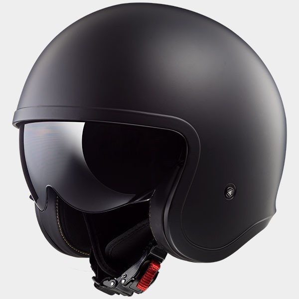 CASCO JET EN THERMOPLASTICO - LS2 - OF599 SPITFIRE SOLID MATT BLACK