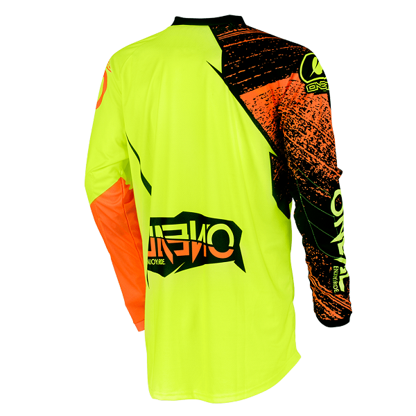 Camiseta ONEAL element burnout black/hi-viz/orange ADULTO