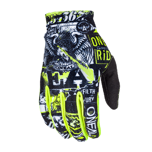 GUANTES ONEAL MATRIX ATTACK BLACK HI-VIZ JUNIOR