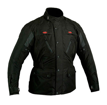 MOTORBIKE CORDURA TEXTILE LONG JACKET WITH PROTECTIONS CE