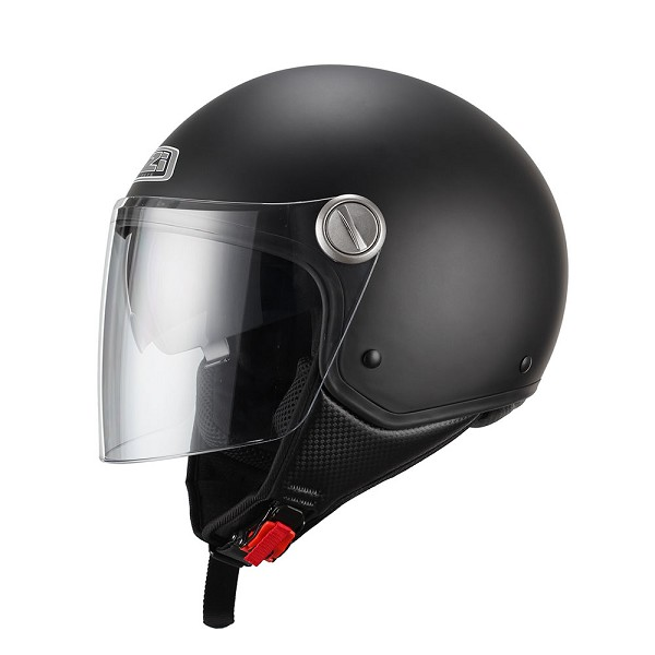 CASCO JET EN THERMOPLASTICO -NZI CAPITAL DUO NEGRO MATE (MATT BLACK)
