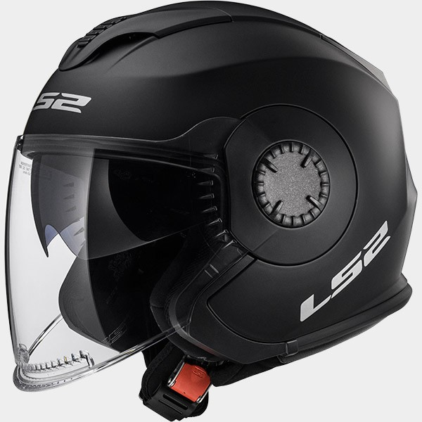 CASCO JET POLICARBONO LS2  - LS2 - OF570 VERSO SOLID MATT BLACK