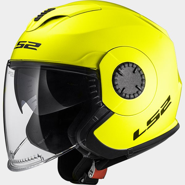 CASCO JET POLICARBONO LS2  - LS2 - OF570 VERSO SOLID H-V YELLOW