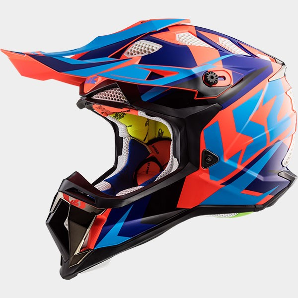 CASCO LS2 - POLICARBONO - MX470 SUBVERTER NIMBLE BLACK BLUE ORANGE
