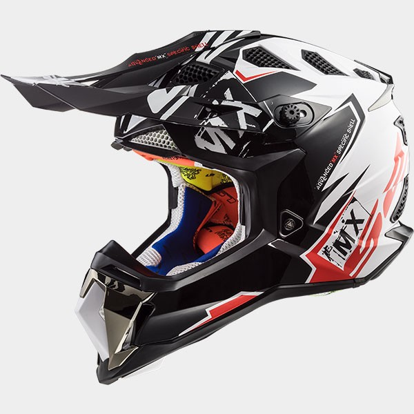 CASCO LS2 - POLICARBONO - MX470 SUBVERTER EMPEROR BLACK WHITE RED