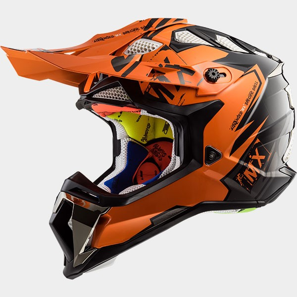 CASCO LS2 - POLICARBONO - MX470 SUBVERTER EMPEROR BLACK ORANGE
