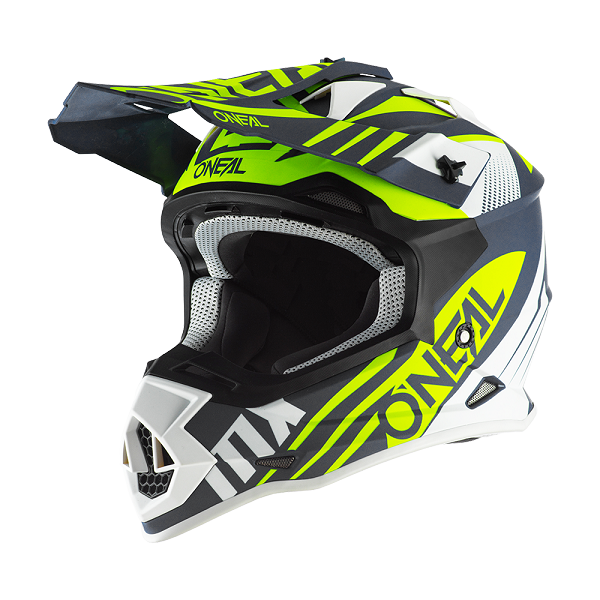 CASCO ONEAL 2 SERIES SPYDE BLUE/ WHITE/NEON YELLOW