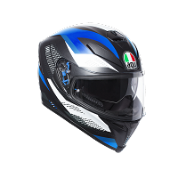 K-5 S AGV MULTI PLK - MARBLE MATT BLACK/WHITE/BLUE - AGV