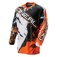Camiseta ONEAL element shocker black/orange ADULTO